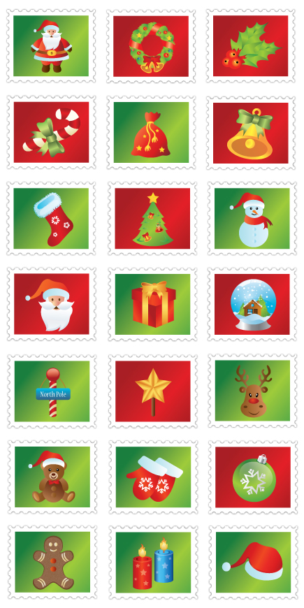 Free Christmas Icons pack in vector AI EPS 21icons
