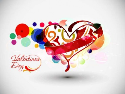 Abstract Valentine's Day Vector Art