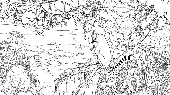 forest background coloring pages - photo#25