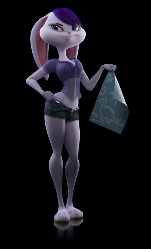 3D Pin-up character