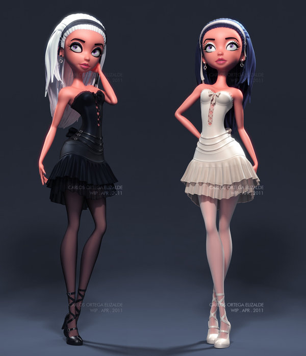 Picture-9 ( 25 Beautiful 3D Pin-ups and character designs by Carlos Ortega Elizalde )