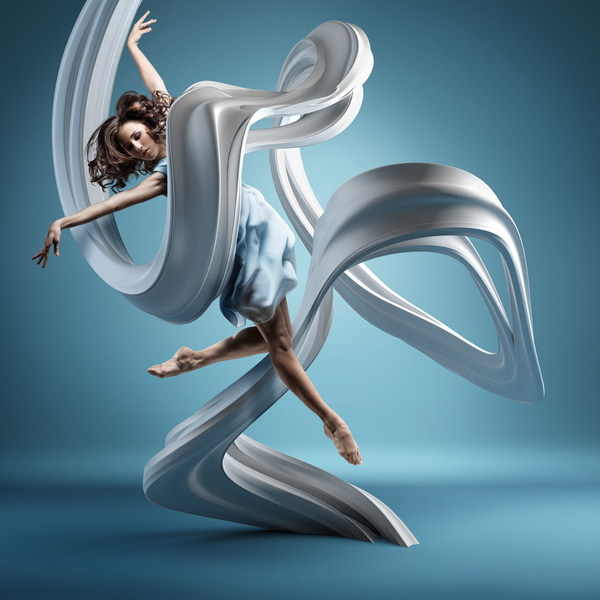 3D Motion lines sculptures