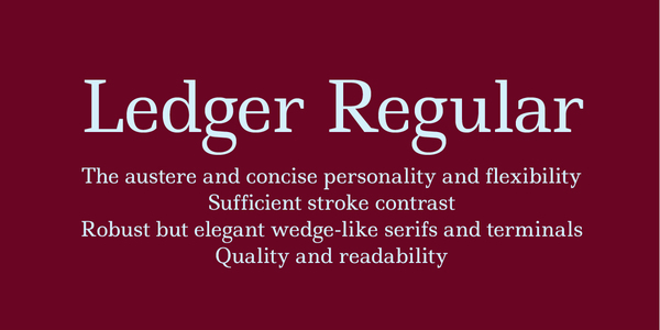 Ledger Regular - by Denis Masharov (  )