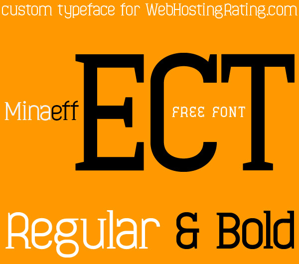 Minaeff%20Ect 26 Free Professional Fonts for Graphic and web Designers   Download