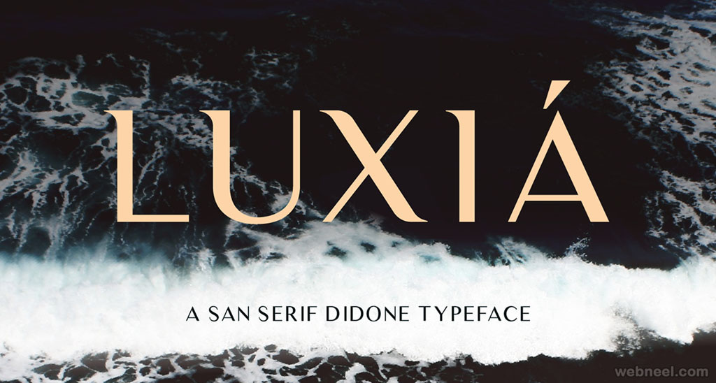 Luxia - free font by Andrew Herndon ( 50 Royalty free fonts for designers )