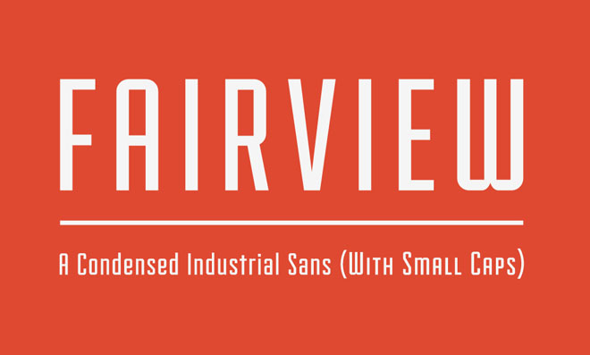 Fairview ( 27 Professional Free Fonts for Graphic and Web Designers )