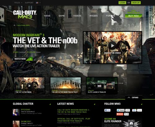 Gamer Website Design