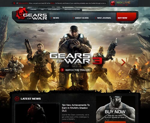 Stunning Game Website Design Examples See Design Possibilities - Game design websites