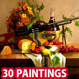 30 Unusual Military themed Oil Paintings by Geliographic Studio