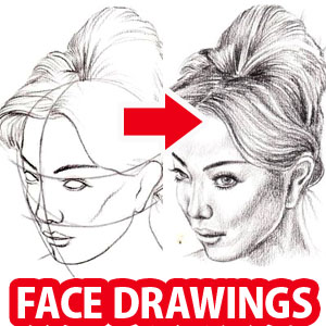 how to draw a face step by step video