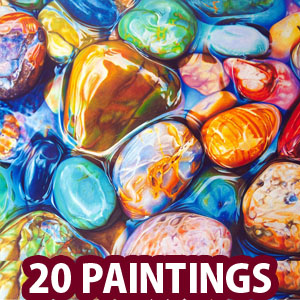 20 Mind-Blowing Hyper Realistic Pebbles and Rocks Paintings by Ester Roi