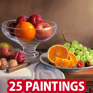 25 Mind Blowing Still Life Oil Paintings by Philip Gerrard - Flowers and Fruits