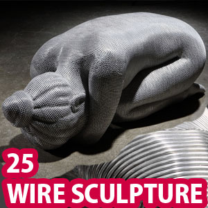 25 Mind-blowing Aluminum Wire Sculptures by Seung Mo Park