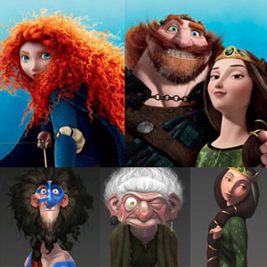 25 Beautiful Character Designs from Oscar Winning Animation Movie Brave