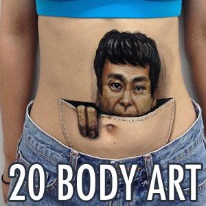 20 Creative Body Art by Japanese Artist Chooo San - Illusion and Incredible