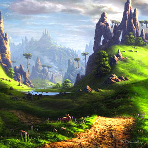 25 Beautiful Digital Art Landscapes and Matte Paintings by Feliks
