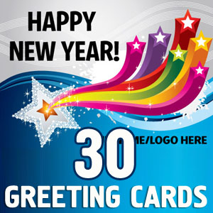 25 Beautiful New year Greeting cards 2013
