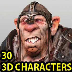 25 Stunning 3D Game Character Designs by Samuel Compain