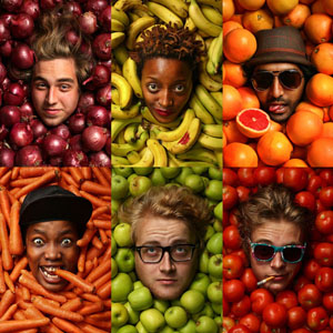 10 Modular Advertising Photography examples with Fruits and Vegetables