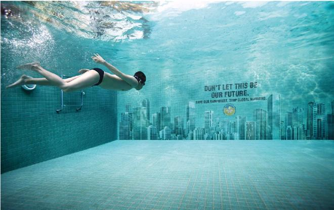 Swimming Pool Marketing : Creative global warming poster designs for your inspiration