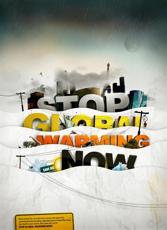 global warming awarness poster design%20(29) 33 Creative Global Warming Poster Designs for your inspiration