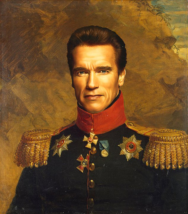 25 Digital Military Portraits from Replace Face Project by Steve PayneOld Family Painted Portraits