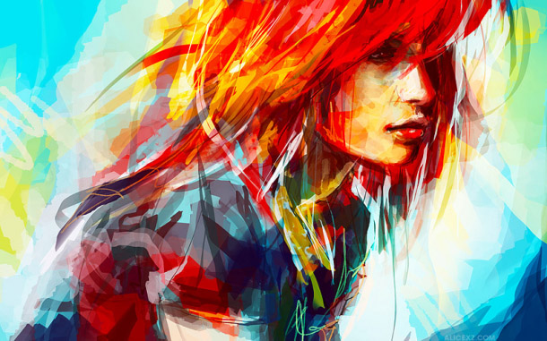 colorful paintings illustrations - Alice X Zhang