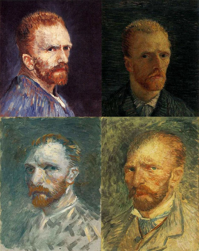 10-Self-portraits by Vincent van Gogh