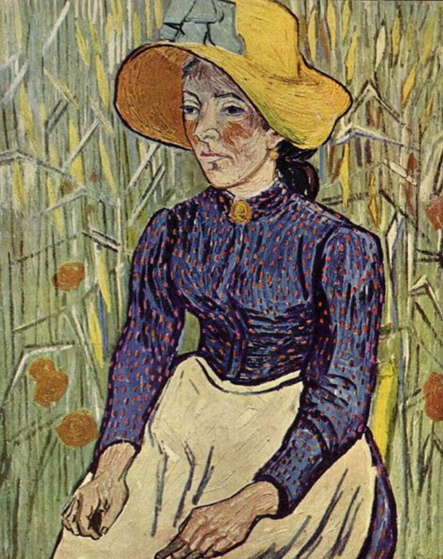 30-Peasant Woman Against a Background of Wheat