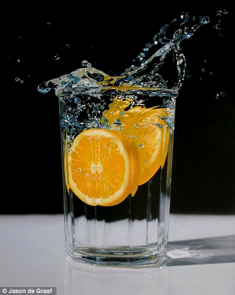Picture-17 ( 30 Hyper-Realistic Acrylic Paintings by JasondeGraaf - Glass and Reflection )