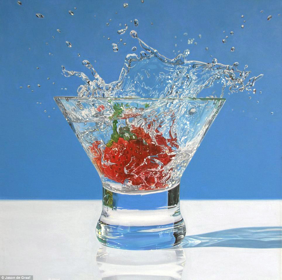 Picture-26 ( 30 Hyper-Realistic Acrylic Paintings by JasondeGraaf - Glass and Reflection )