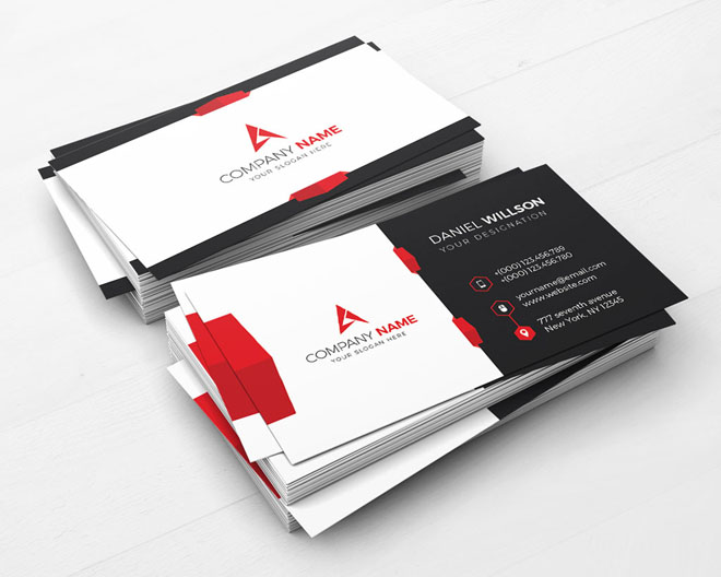 50 creative corporate business card design examples design inspiration corporate business card design creative and artistic brochure design template accmission Choice Image