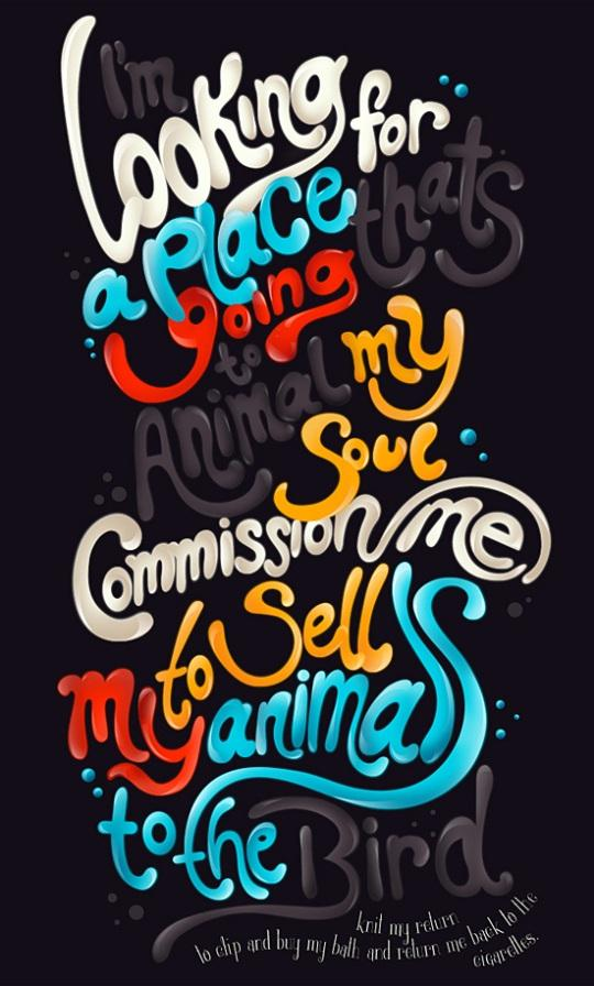 typography illustration%20(9) 25 Awesome and Creative Typography Graphic Designs for your inspiration