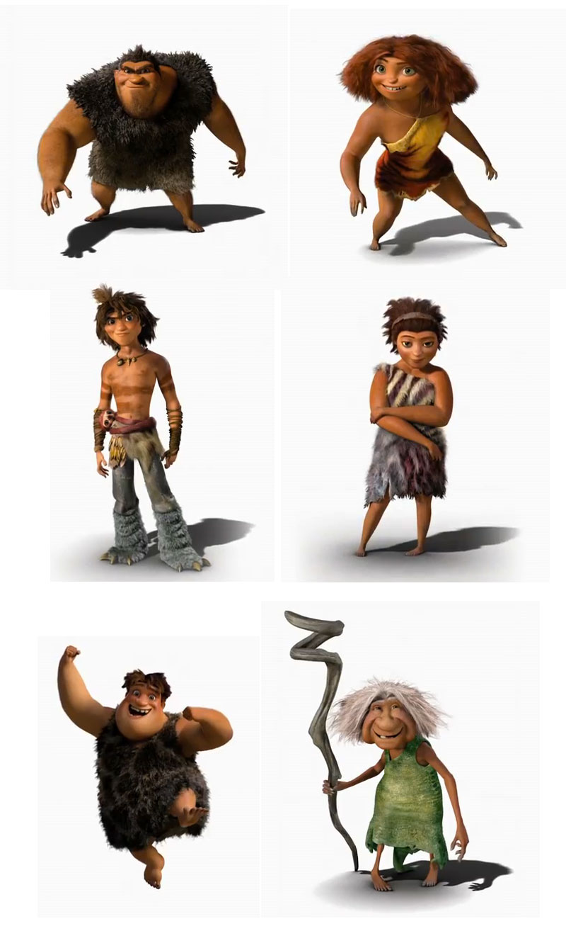 animation movie animated character design the croods