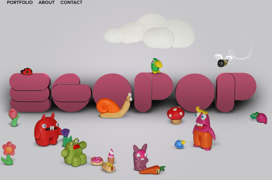 Egopop - web portfolio design of a designer ( 25 Beautiful Portfolio Website Designs?nid=8241 )