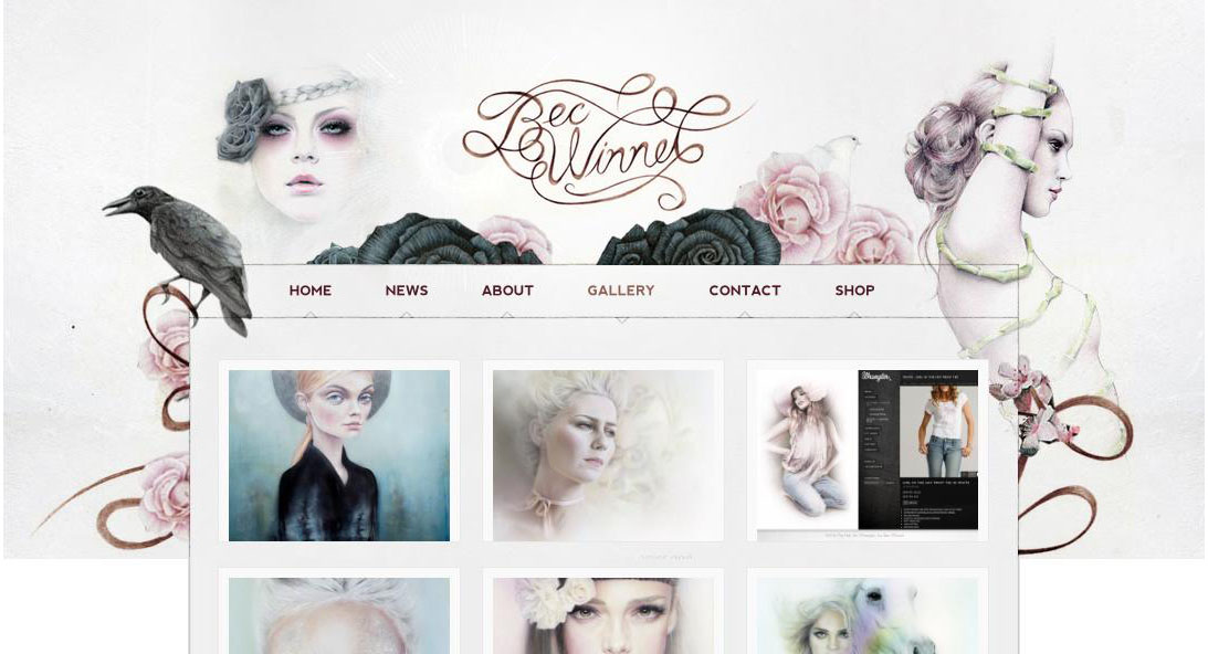 27 beautiful portfolio website design examples that will for Best art websites for artists