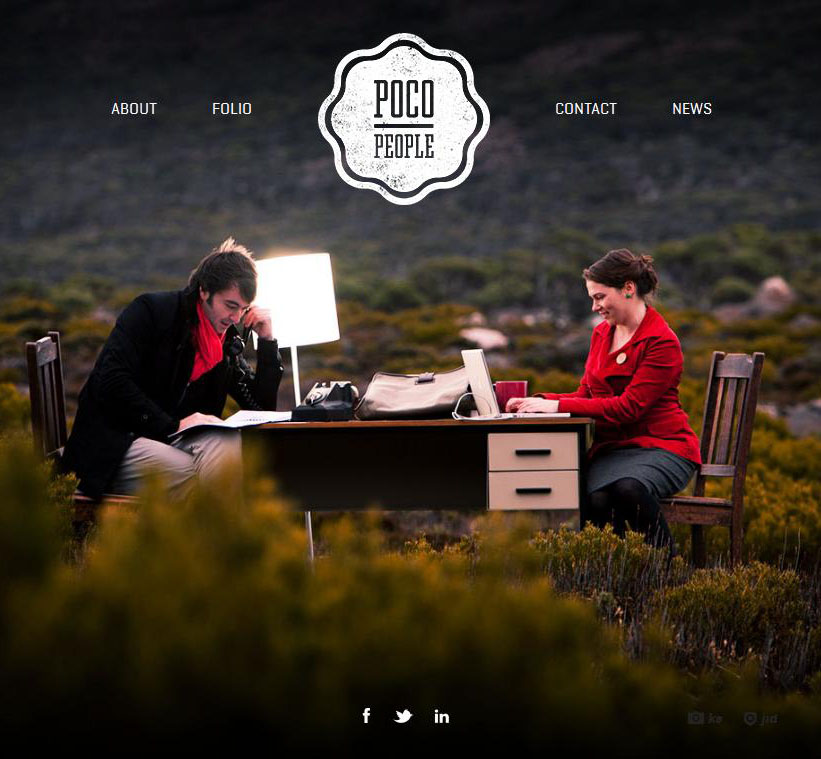 Pocopeople - photo based graphic designers portfolio ( 25 Beautiful Portfolio Website Designs?nid=8241 )