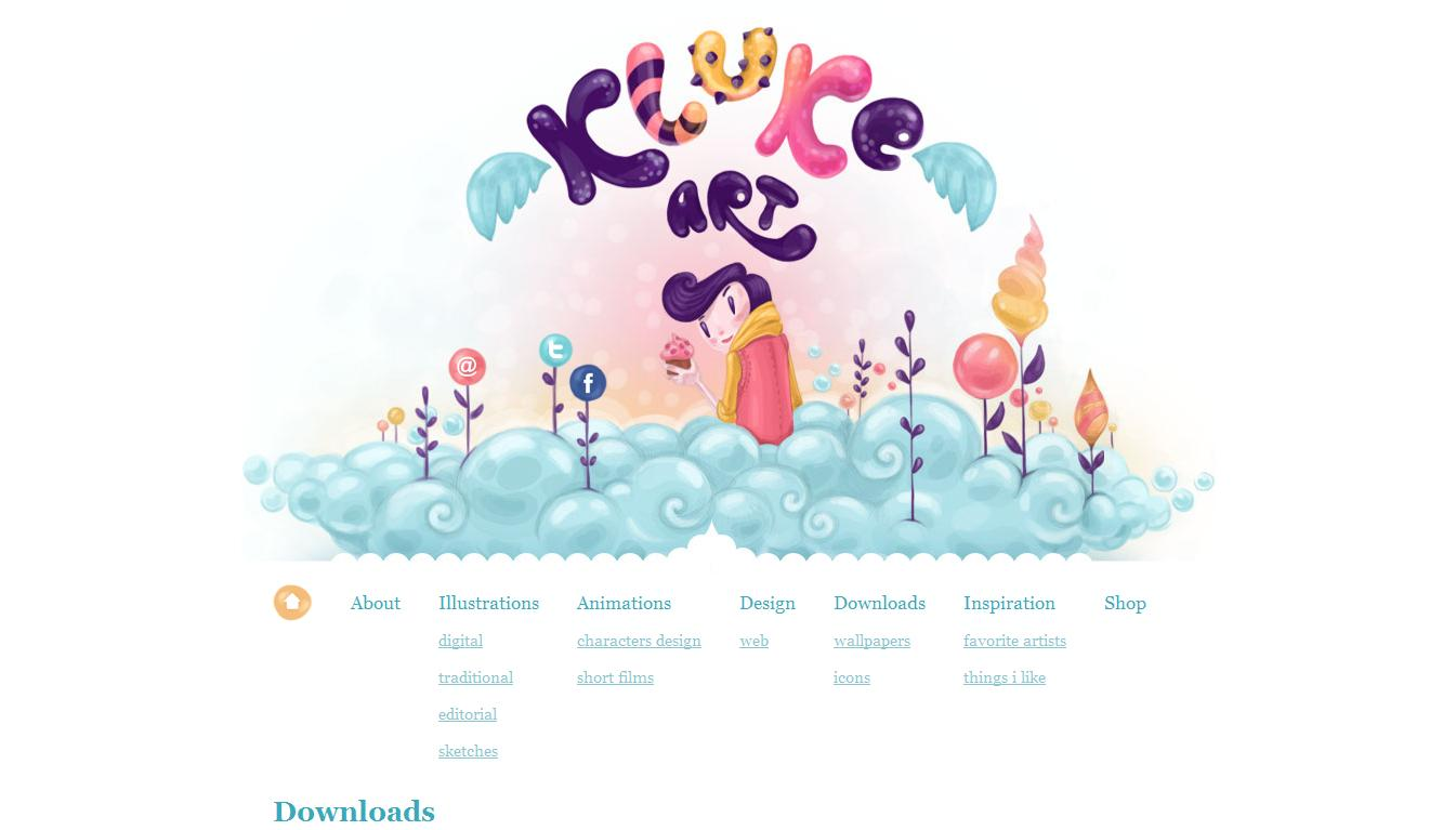 Illustrator Portfolio - Klukeart ( 25 Beautiful Portfolio Website Designs?nid=8241 )