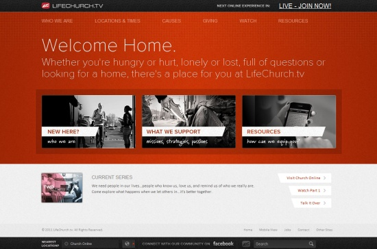 35 creative home page designs web design showcase for Home design websites