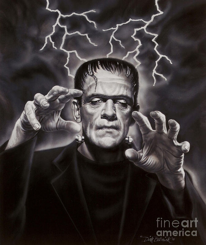 frankenstein monster painting dick bobnick