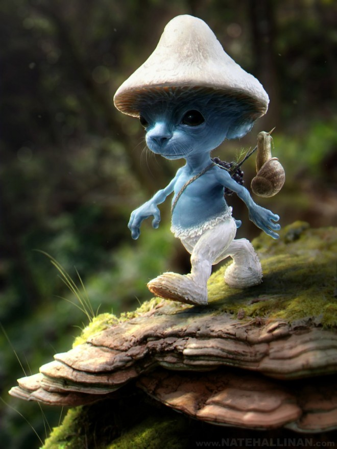 3D Art Smurf Sighting
