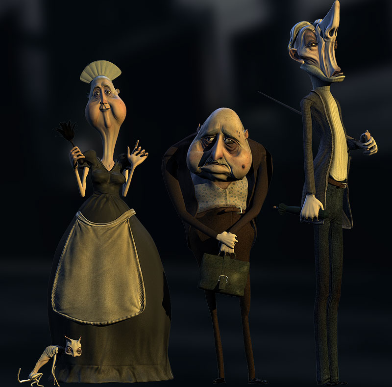 3d character design characters by gencbuxheli