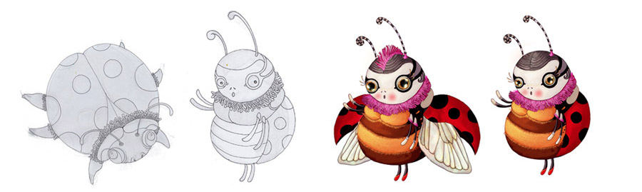 3d lady bug character