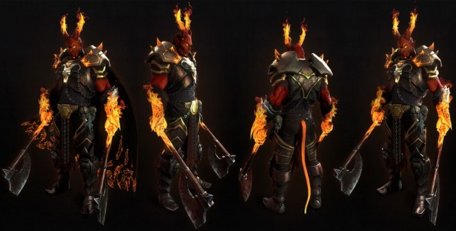 3d model demon warrior