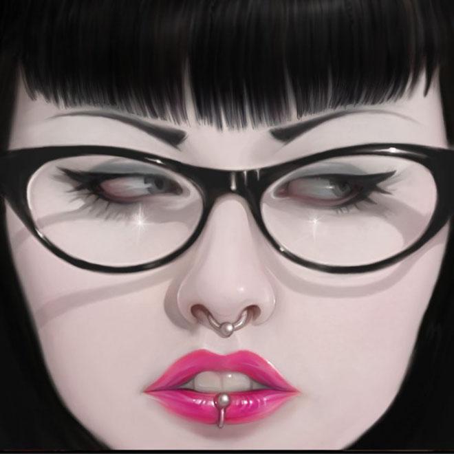 6 girl digital art by serge birault