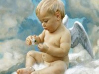 Angel baby painting