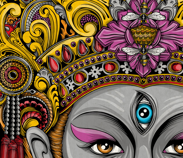 balinese mask artwork