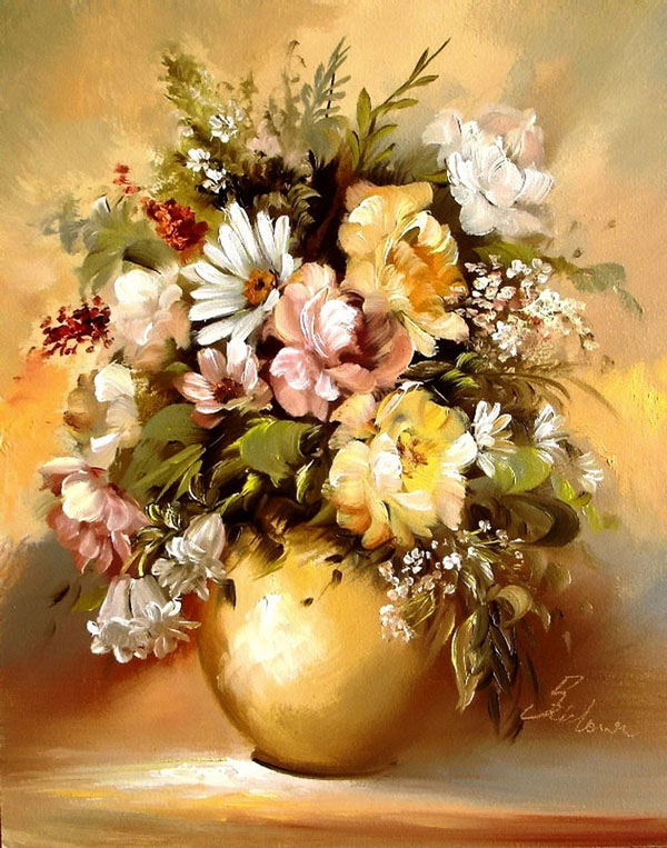 Beautiful flower oil paintings
