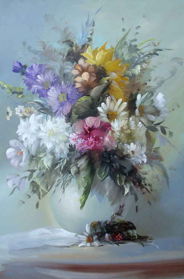 20 beautiful bouquet and flower oil paintings by szechenyi