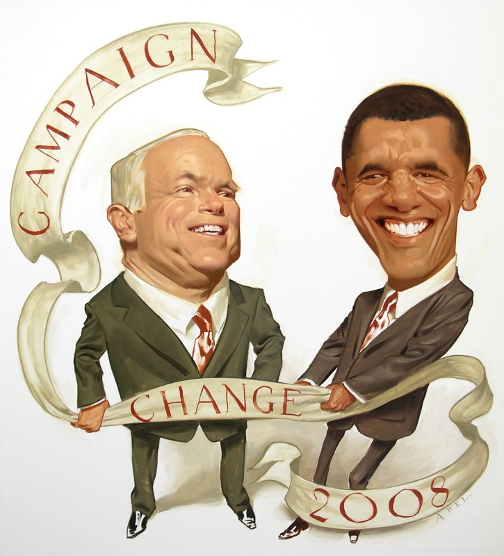 paintings illustration caricature Change v Change New York Times